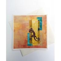GECKO COLLAGE ART CARD