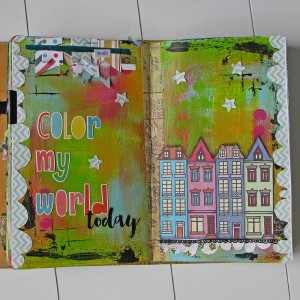 Row of houses journal page