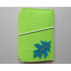 Bright Green Cover with a leaf design