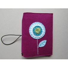Plumb cover with a blue circle flower design
