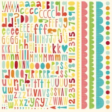 Sweet Summertime Alphabet Sticker Sheet