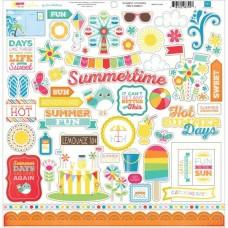 I Love Sunshine Element Sticker Sheet