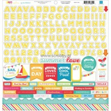 I Love Sunshine Alphabet Sticker Sheet
