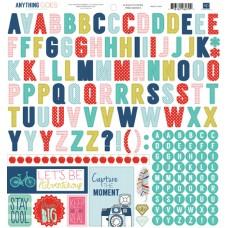 Anything Goes Alphabet Sticker Sheet
