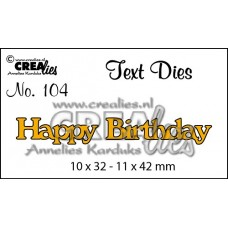 Crealies Happy Birthday Die